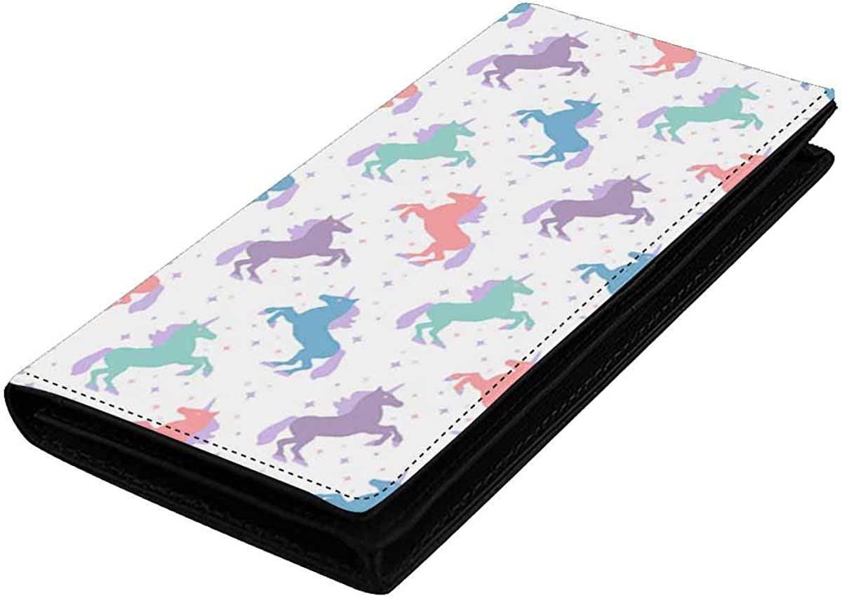 INTERESTPRINT Credit Card Leather Wallet Capacit for Women It is very popular Huge Max 63% OFF