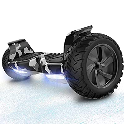 RCB HoverBoard 8.5 inch wheels all terrain Segway Built in Bluetooth LED With powerful engine Self Balancing Scooter Off-Road Electric Scooter (Camouflage)