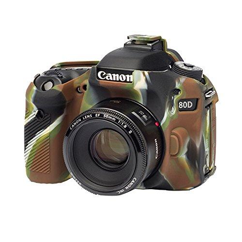 easyCover by Bilora silicone custodia protettiva Per Canon 80d Camouflage/Nero