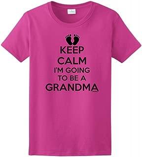 ThisWear Keep Calm I'm Going to Be a Grandma Ladies T-Shirt