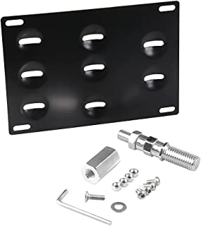Anngo Racing Car No drill Tow Eye Front Bumper Tow Hole Hook License Plate Mount Bracket Holder Adapter Relocation Kit For Mercedes W204 C-Class W212 E Class C117 CLA-Class W221 S-Class W166 ML X204 G