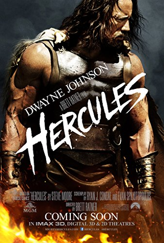 Hercules Movie Poster 2 Sided Original Version B 27x40 Dwayne Johnson
