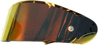 MC MOTOPARTS Helmet Pinlock Pin Visor Shield Chrome Fire Red For CWR-F Shield X14 X-Fourteen Helmet