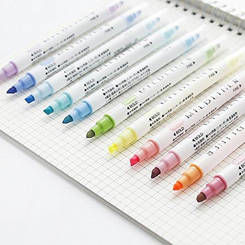 Doppelkopf-Highlighter-Textmarker, 12 Farben, Dualspitzen, Bibelmarker, Lernset, bunte Textmarker, Set für Büro, Klassenzimmer, Bibelstudie