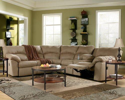 Ashley Furniture Amazon Mocha Reclining Sectional Sofa