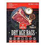 Artisan Meat Lab - Dry Age Bags for Meat, Ribeye, Beef Steak, Sirloin, Brisket, BBQ - Dry Aging Meat at Home Made Easy - 3 Dry Aged Bags 2-18lb 12x24in