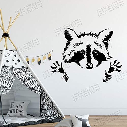 Wopiaol Leuke kleine wolf cartoon vorm afneembare muursticker voor kinderkamer kunstdecoratie voor thuis vinyl sticker baby's slaapkamer