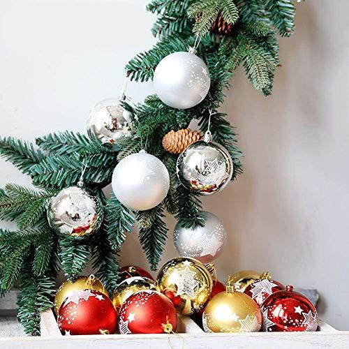 WANGIRL 6 Unids Set Árbol de Navidad Juguetes Bola Colgante Bola de Navidad Transparente 8Cm Cajas Bola Pintada Navidad Adorno de Año Nuevo (Color : Silver)