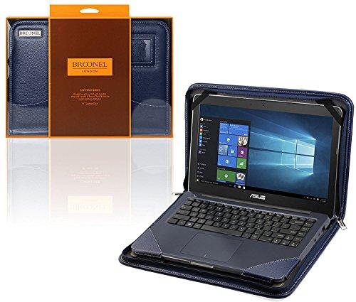 Navitech Broonel - Contour Series - Blau Heavy Duty Lederschutzhülle für die Asus VivoBook Pro N552VX