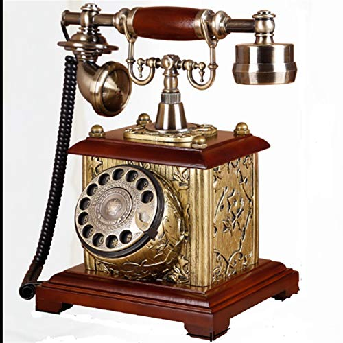 ZHAOH Línea Fija Retro Retro Classic Rotary Dial Teléfono Fijo Moda Teléfono...