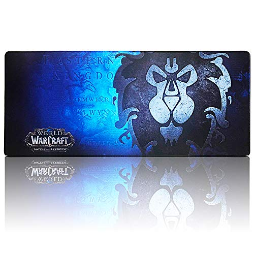 Extended Gaming Mouse Pad for World of Warcraft Alliance Keyboard and Mouse Pads Desk Mat (27.5' x 11.8' x 0.1')