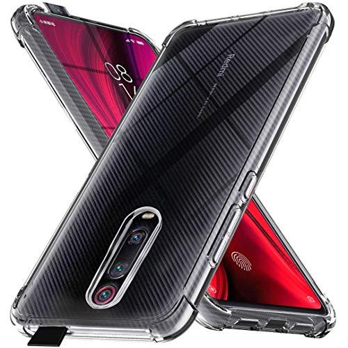 Ferilinso Funda para Xiaomi Mi 9T Pro/Mi 9T [Transparente TPU Silicona Carcasa] [10X Anti-Amarilleo] [Compatible con la Cristal Templado Protector de Pantalla][Anti-arañazos](Transparente)
