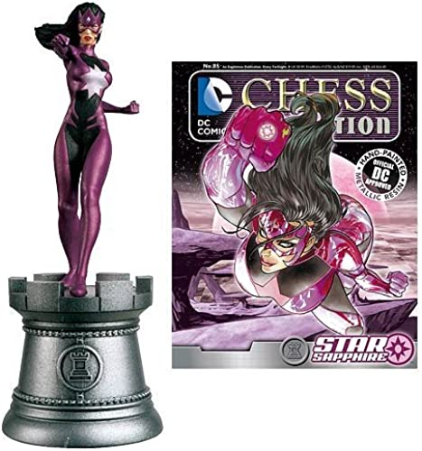 DC Superhero Star Sapphire Weiß Rook Chess Piece with Collector Magazine by Star Sapphire