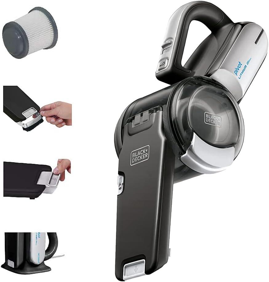 黑色+Decker 20V最大手持式真空吸尘器