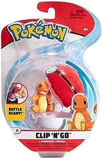 Pokemon Clip 'N 'Go – figuur / karakter 5 cm – salameche + Pokéball