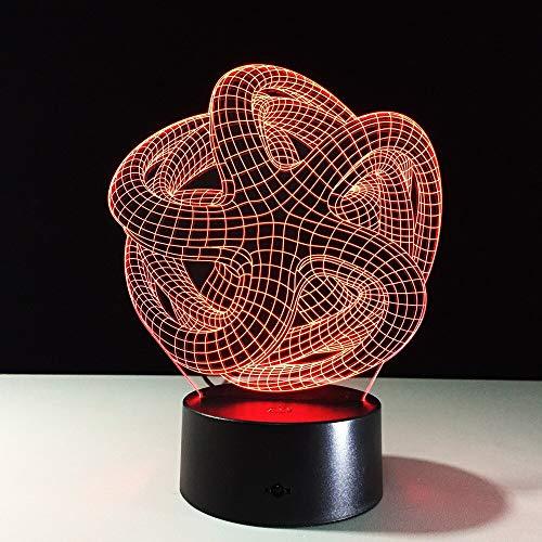 trazione 3D Lampada da notte capace di umore Lampada LED Lampada da tavolo decorativa DC USB Arte speciale Home Office Party Deco