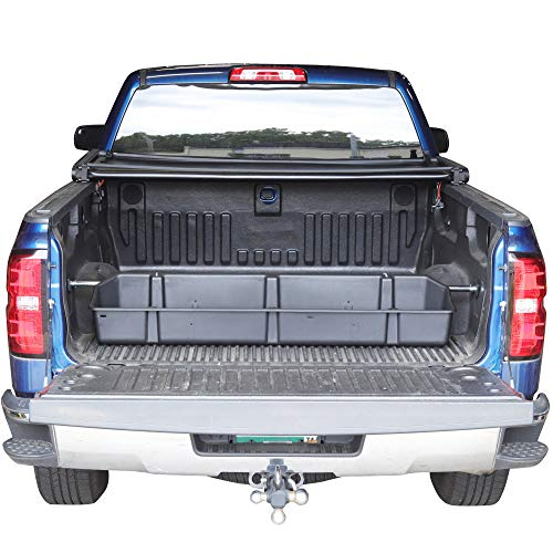 Red Hound Auto Truck Bed Storage Cargo Container Compatible with Chevrolet Chevy GMC Silverado Sierra 2014-2018 Transport Organizer with Secure Attachment System for Groceries Tools Golf Clubs More