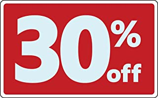Sale 30% Percent off Business Sign Retail Store Discount Promotion