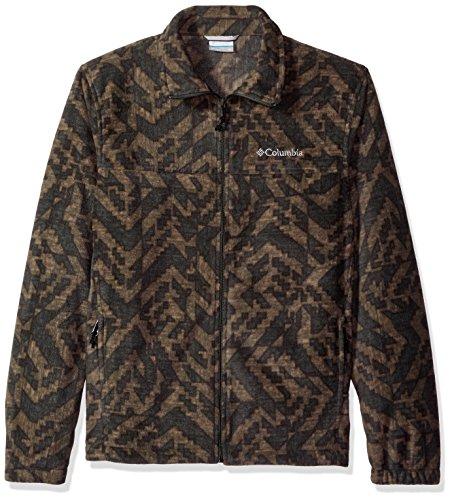 Columbia Men's Cascades Explorer Full Zip Fleece Jacket, Gravel Galicut Green, X-Large