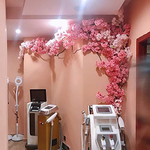 BCXGS Árbol de Flor de Cerezo de Flor Artificial, Color Mezclado Fake Vines Artificial Flower, Flores de simulación de Seda de Sakura para la decoración de la Pared del Banquete de Boda