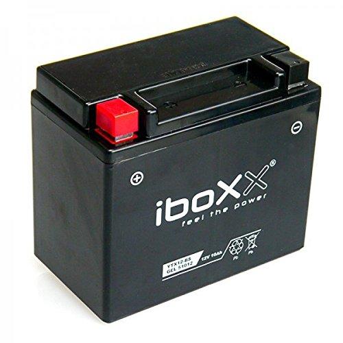 Iboxx Motorrad Gel Batterie/Gelbatterie YTX12-BS, 12 Volt, 10 Ah für Daelim S3 250 Fi Advance, KMYSZ2BLSDC, Bj. 2013-2015
