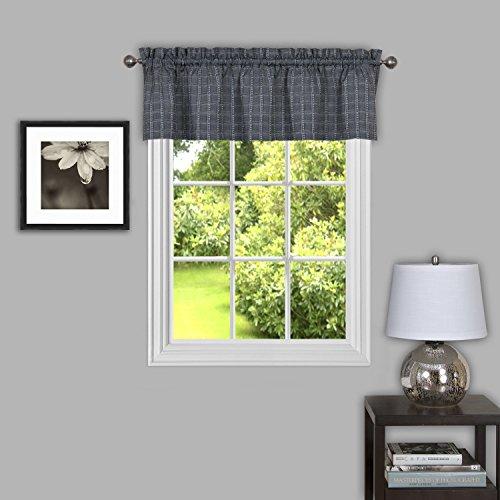"Achim Home Furnishings, Grey Sydney Window Curtain Valance, 58"" x 14"""