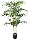 MBTRY Plantas artificiales Inddor en maceta para sala de estar, jardín, decoración al aire libre, árbol de simulación de 4 pies de alto con plantador