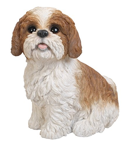 Vivid Arts Sitting Shih Tzu Dog Resin Ornament - Brown/White