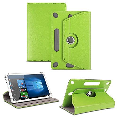 NAUC Tablet Tasche für Captiva Pad 10 3G Plus mit Ständerfunktion Hülle Schutztasche Schutzhülle Stand Tasche Etui Cover Hülle 360° drehbar, Farben:Grün
