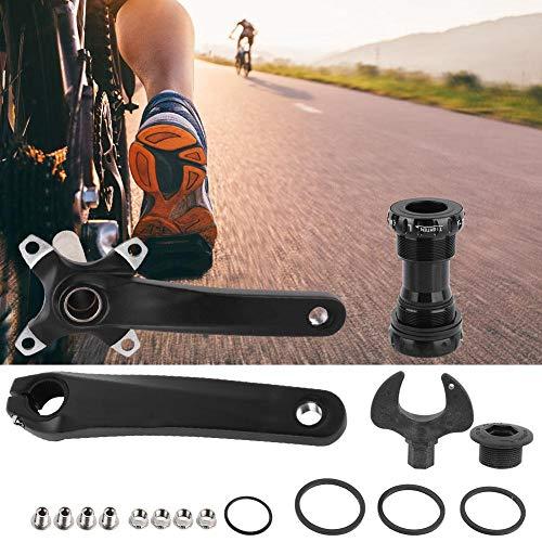 Shanbor Pierna de manivela de Bicicleta de manivela Hueca integrada Liviana Izquierda y Derecha, Kit de Soporte Inferior Juego de manivela de Bicicleta, para Taller de reparación de Bicicletas de