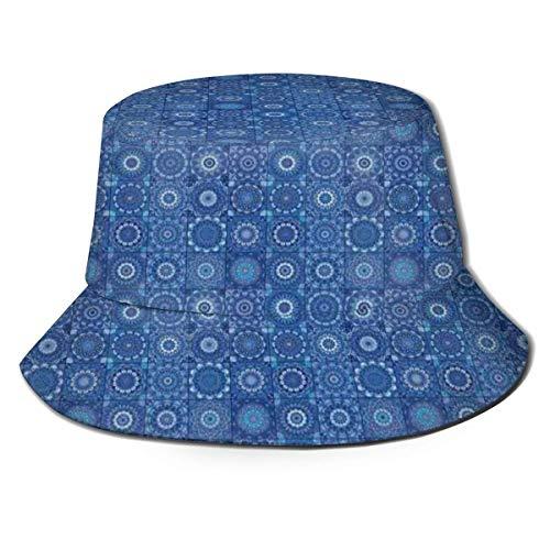 Henry Anthony Unisex Fisherman Cap, marokkanische traditionelle Fliesen portugiesische Azulejo inspirierte Design, Travel Beach Hat
