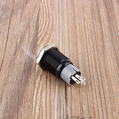 Interruptor de coche, cerradura LED con botón pulsador, accesorios interiores de automóvil, para camioneta SUV, vehículo recreativo, barco, yate