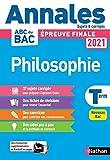 Annales Bac 2021 Philosophie