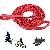 Rbanbow Remolques para Bicicletas, Barra Remolque Bicicleta Niños, Cuerda De Remolque para Bicicleta para Niños, Bike Tow Rope, Cuerda De Remolque para Bicicleta De Montaña con Amigos (Color : Red)
