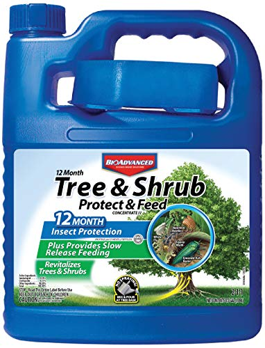 BioAdvanced 701614B Insect Killer Fertilizer 12-Month Tree and Shrub Protect & Feed, 0.5-Gallon, Concentrate