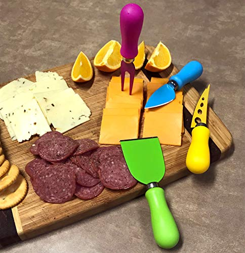 DINY Home & Style 4 Piece Cheese Knife Set Great for All Types of Cheese