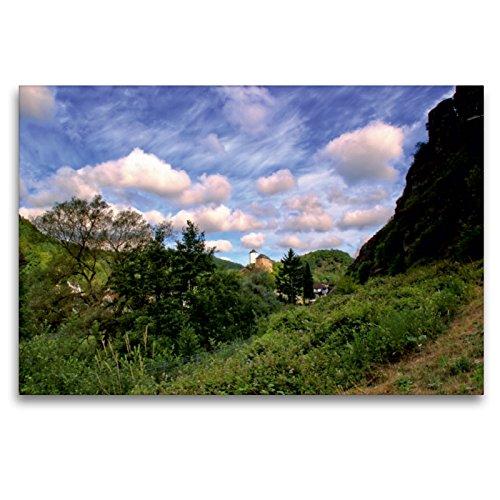 Premium Textil-Leinwand 120 x 80 cm Quer-Format Mit Blick auf die Burg Kreuzberg | Wandbild, HD-Bild auf Keilrahmen, Fertigbild auf hochwertigem Vlies, Leinwanddruck von Arno Klatt