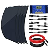 ECO-WORTHY 400W Flexible Solar Panel Kit for RV with 4pcs 100W Solar Panel and 60A Charge Controller for Boats, RV, Tents, Roofs,...