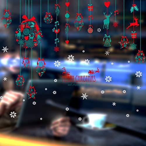 Pmhc muurstickers Kerstmis hangende muursticker kerstavond etalage decoratie vitrine