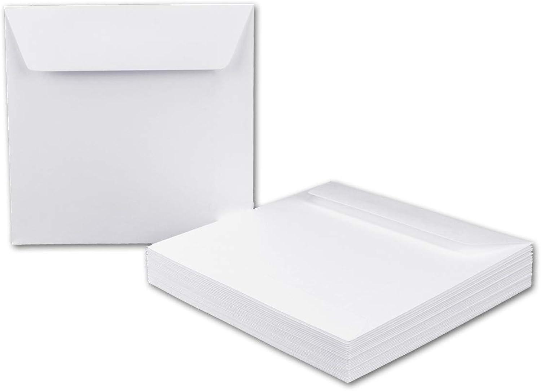 1000x quadratische Brief-Umschläge 15,5 x 15,5 cm, Weiß - Haftklebung, Haftklebung, Haftklebung, starke Qualität 120 g m² - Quadratische KuGrüns für Einladungs-Karten B07KFLZRH5    | Wirtschaft  441030