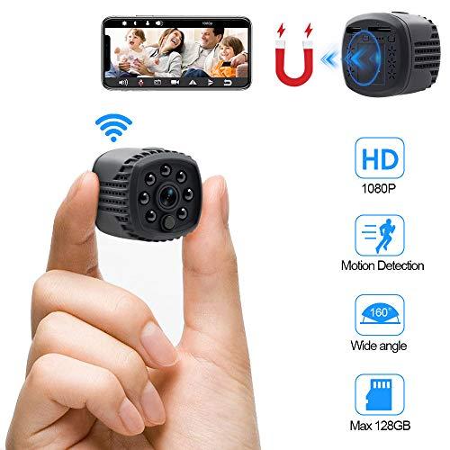 Camara Espia Oculta WiFi HD 1080P TANGMI Mini Videocámara Inalámbrica Cámara de Seguridad con Detector de Movimiento IR Visión Nocturna 140°