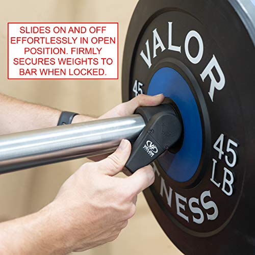 Valor Fitness MB-MC Muscle Clamps for Olympic Barbells