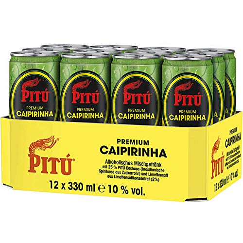12 Dosen Pitu Caipirinha 10% Vol. a 0,33L inc. 3.00.€ EINWEG Pfand Caribean Rum Mixgetränk