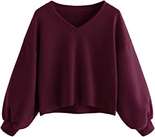Women's Fashion Casual Drawstring Long Sleeve Hoodie Crop Top Sweatshirt