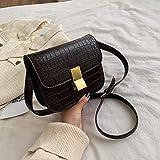 XCHJY Bolso Tofu pequeño Bolso de Mujer otoño e Invierno Moda Salvaje Hombro Messenger Bag pequeño Bolso Cuadrado marrón