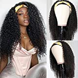 UNice Fashion Afro Kinky Curly Half Wigs Human Hair for Black Women, 100% Unprocessed Brazilian Virgin Hair Glueless Wear and Go Wig 150% Density 20inch
