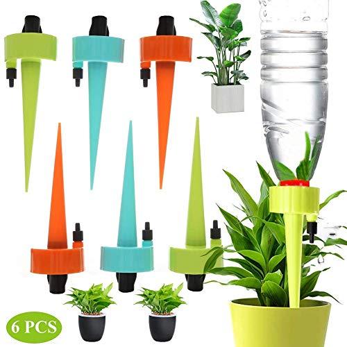 BABYS\'q 6 STÜCKE Wasserspender für Pflanzen Automatische Bewässerung Spikes Bewässerung Tropfer mit Slow Release Steuerventil Schalter für Outdoor Indoor Blume oder Gemüse