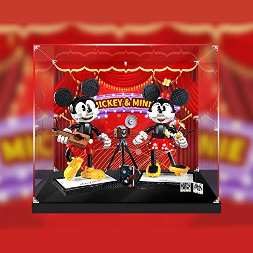 Vitrina de Acrílico para Lego Disney Mickey Mouse y Minnie Mouse 43179,Display Case Vitrinas para Colecciones Modelismo (Solo Vitrina) (3 mm con patrón)