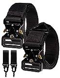 RBOCOTT Cinturón Táctico Militar Nylon Adjustable,Cinturón Automático para Hombre,Cinturones para exteriores,Cinturón de liberación Rápida,Cinturón Negro(140CM)