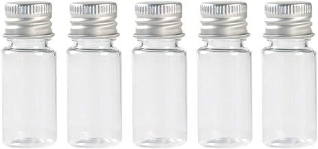 iplusmile 5 stks Tiny Potten Monster Flessen Helder Glas Flessen met Aluminium Schroef Deksel Kleine Hervulbare Lege Fles ...
